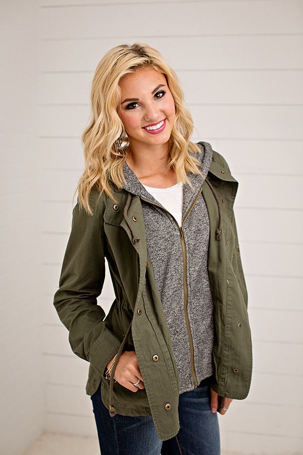 TERRY HOOD UTILITY JACKET | 3 COLORS This jacket has us so excited for those cool fall nights! You will be wearing this all fall and winter long. This jacket has two pockets, drawstring waist and terry sweater hoodie for that extra layered look we all LOVE! Dress it up with your favorite leggings or keep it casual with jeans and a graphic tee. No matter how you wear this jacket, you will be looking and feeling fabulous! Savvy (blonde) is 5'7