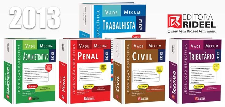 Vade Mecum Legislações Específicas - Editora Rideel - www.leinova.com.br