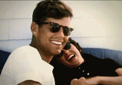 John F. Kennedy and his sister.