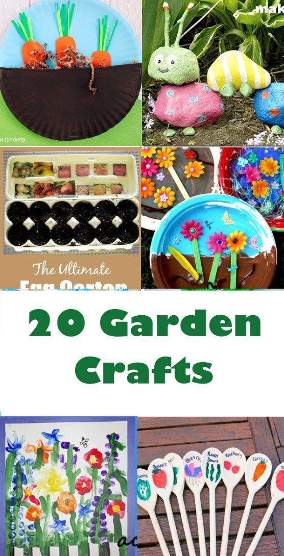 garden craft for kids - garden craft for kids - spring craft - acraftylife.com #preschool #craftsforkids #crafts #kidscraftgarden