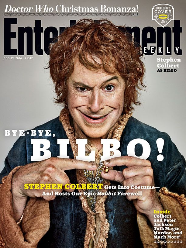 stephen-colbert-dressed-as-bilbo-gandalf-and-legolas-in-ew-hobbit-covers