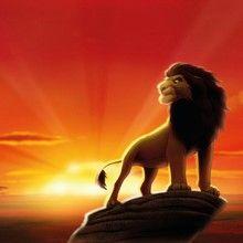 Fototapet - The Lion King. Fototapet med løvernes konge på sin udkigspost.
