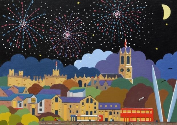 Thursday Picture – Lancaster Fireworks | Girl with her Head in a Book