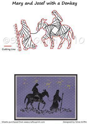 Mary and Joseph and a Donkey Iris Folding Pattern