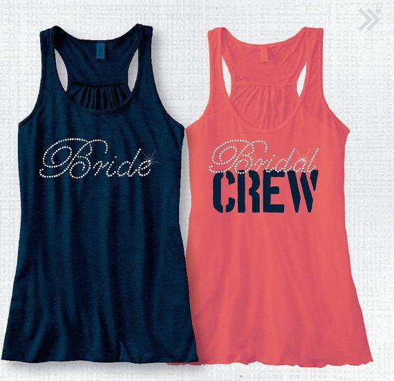 Bridal Party Tank Top Bachelorette Tank Top Shirt by BridalRave