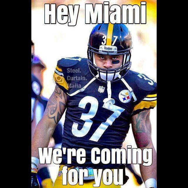 @miamidolphins We coming. #Pittsburgh #Steelers #Playoffs #WildcardRound #StairwayToSeven