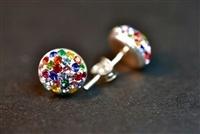 Pendientes de colores con plata y swarovski elements