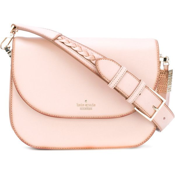 Kate Spade braided strap shoulder bag ($660) ❤ liked on Polyvore featuring bags, handbags, shoulder bags, pink, kate spade, shoulder hand bags, kate spade shoulder bag, shoulder bag handbag and kate spade purses
