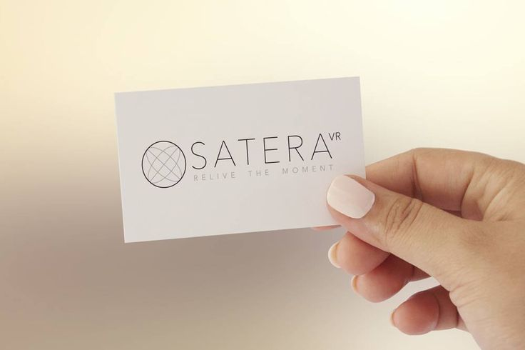 Satera Branding and business cards design. #VR #virtualreality