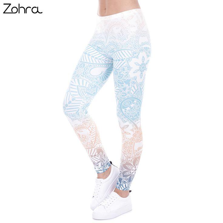 Hot Sales Leggings Mandala Mint Print Fitness legging High Elasticity //Price: $11.68 & FREE Shipping //     #leggings