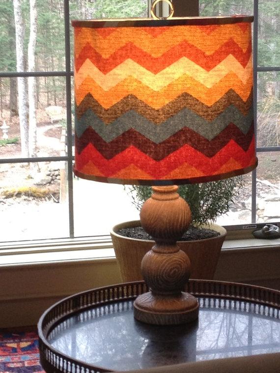 zigzag multicoloured lamp shade