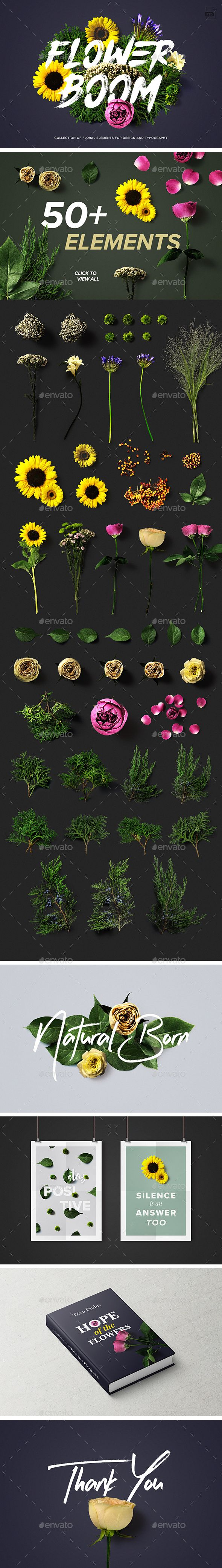 Flower Boom Graphic Pack — Photoshop PSD #photoshop • Download ➝ https://graphicriver.net/item/flower-boom-graphic-pack/19187731?ref=pxcr