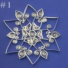 Paper Quilling Free Patterns | Custom Quilling Supplies: Another Free Quilled Snowflake Pattern