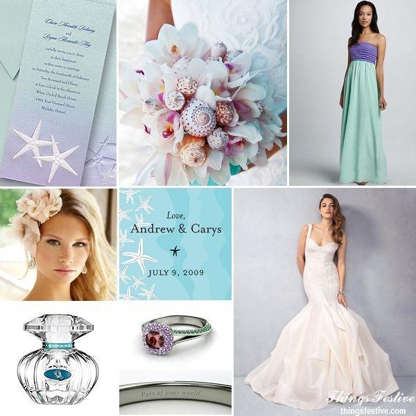 Fairy Tale Wedding Inspiration: Sea-Loving Ariel  #wedding #fairytalewedding #disneywedding #arielwedding #thelittlemermaidwedding