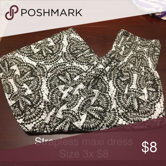 Aztec maxi dress Stretchy top. Random brand. Dresses Maxi