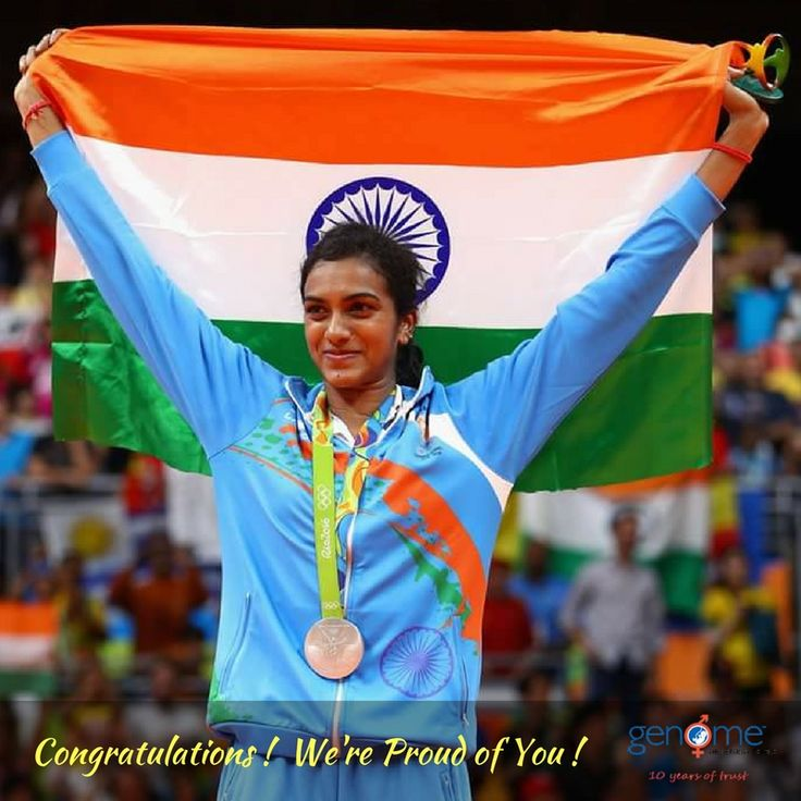 """""""She believed she could, so she did.""""  P V Sindhu at GENOME we salute your fighting spree and true grit.Thank you for making us proud!"""