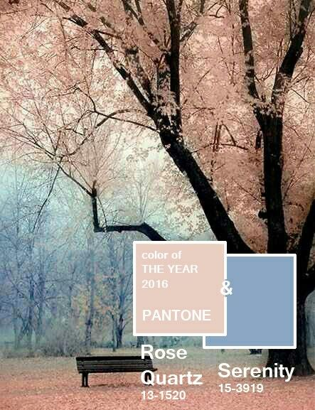 2016 Pantone color of the year: Rose quartz and Serenity