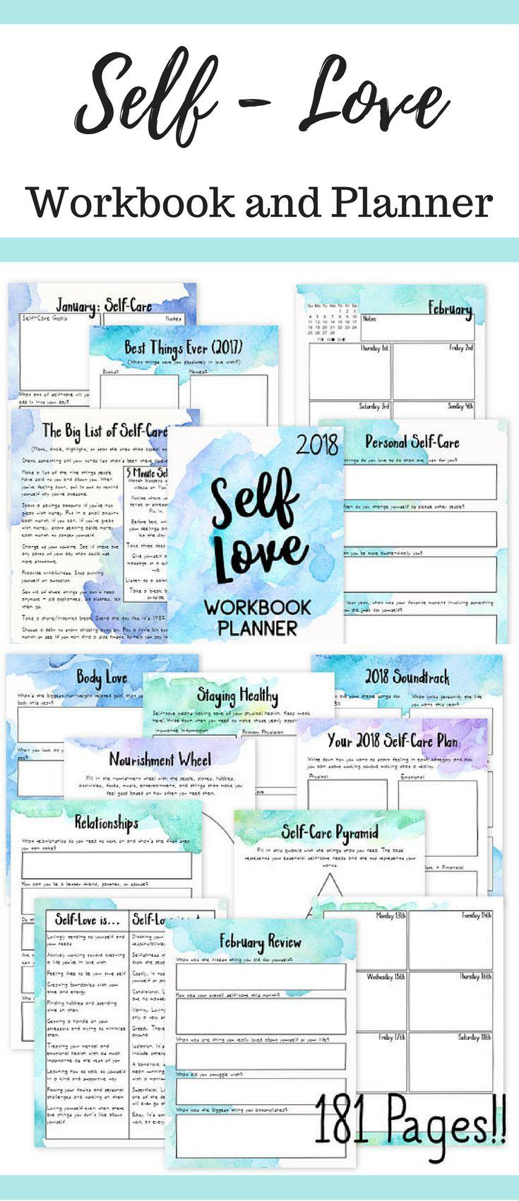 Self Love Workbook and Planner | Self Care Planner | Self Help | Personal Growth | Bullet Journal #ad #selflove #selfcare #workbook #planner #selfhelp #planneraddict #plannerlove #plannercommunity #plannergirl #printable #instantdownload #digital