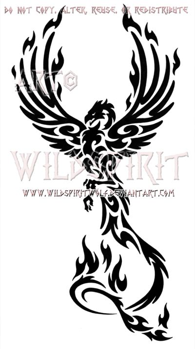 Majestic Tribal Phoenix Design by *WildSpiritWolf on deviantART