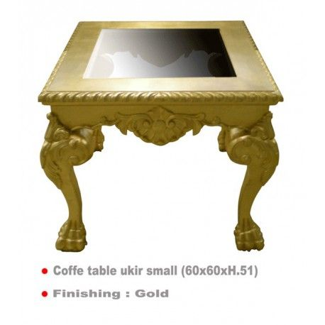 Table basse dorée 60 x 60 cm Ukir