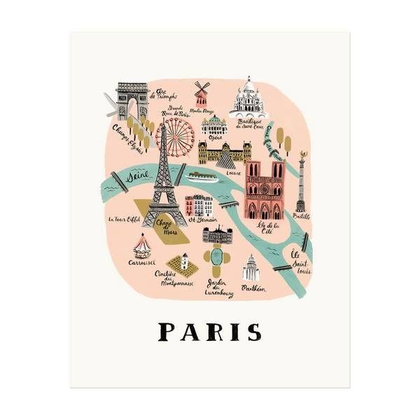 Rifle Paper Co. Art Print Paris Map