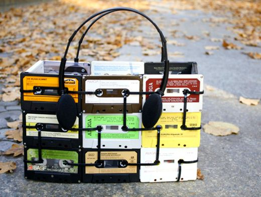 Now I know what to do with those useless cassettes I haven't thrown away!   ReFab Diaries: Upcycle: Cable Ties, zipped up!