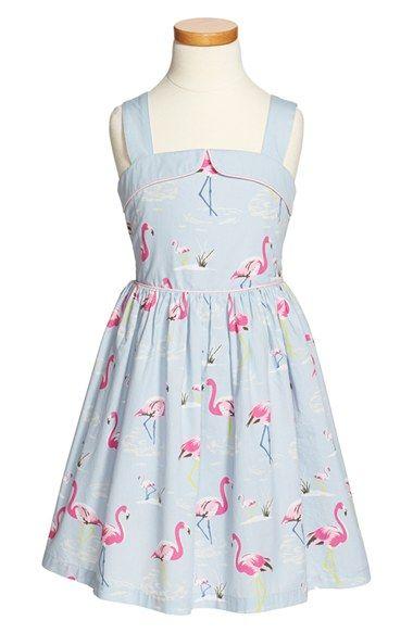 Mini Boden 'Fifties Summer' Print Sleeveless Cotton Dress (Toddler Girls, Little Girls & Big Girls) available at #Nordstrom