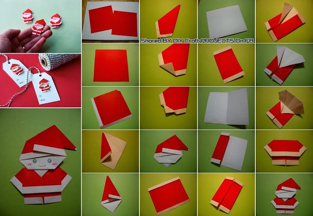 Diy origami p re no l no l pinterest tutoriels - Origami pere noel ...