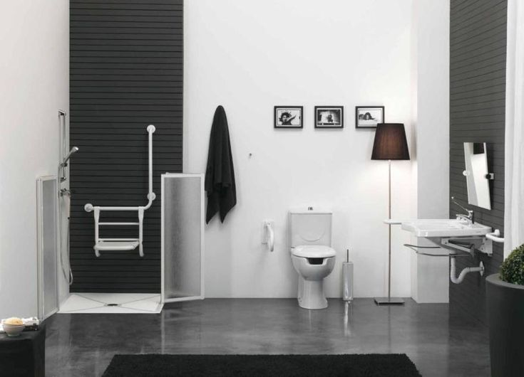 Black And White Bathroom Design For Disabled Ausil Line Series Picture Owen Wash Pinterest