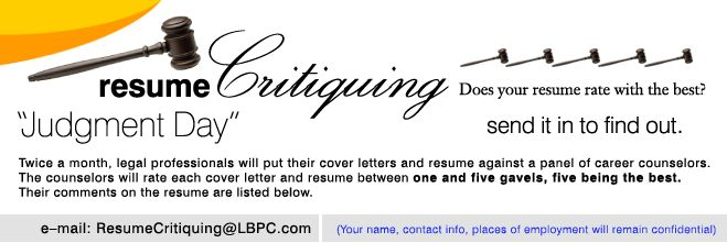 Legal Career Center   Resumes And Cover Letters