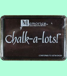 Memories Chalk-a-lots Ink Pad - Creme de Menthe Premium quality ink pad for pastel tones and chalk effects on many surfaces. Heat set for faster drying. $4.00