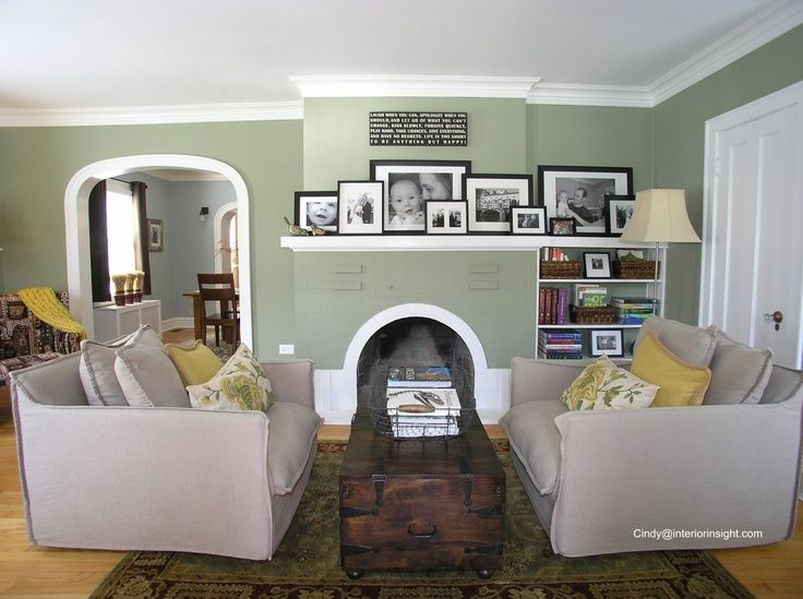 Black And White Photo Grouping On Fireplace Mantel All In