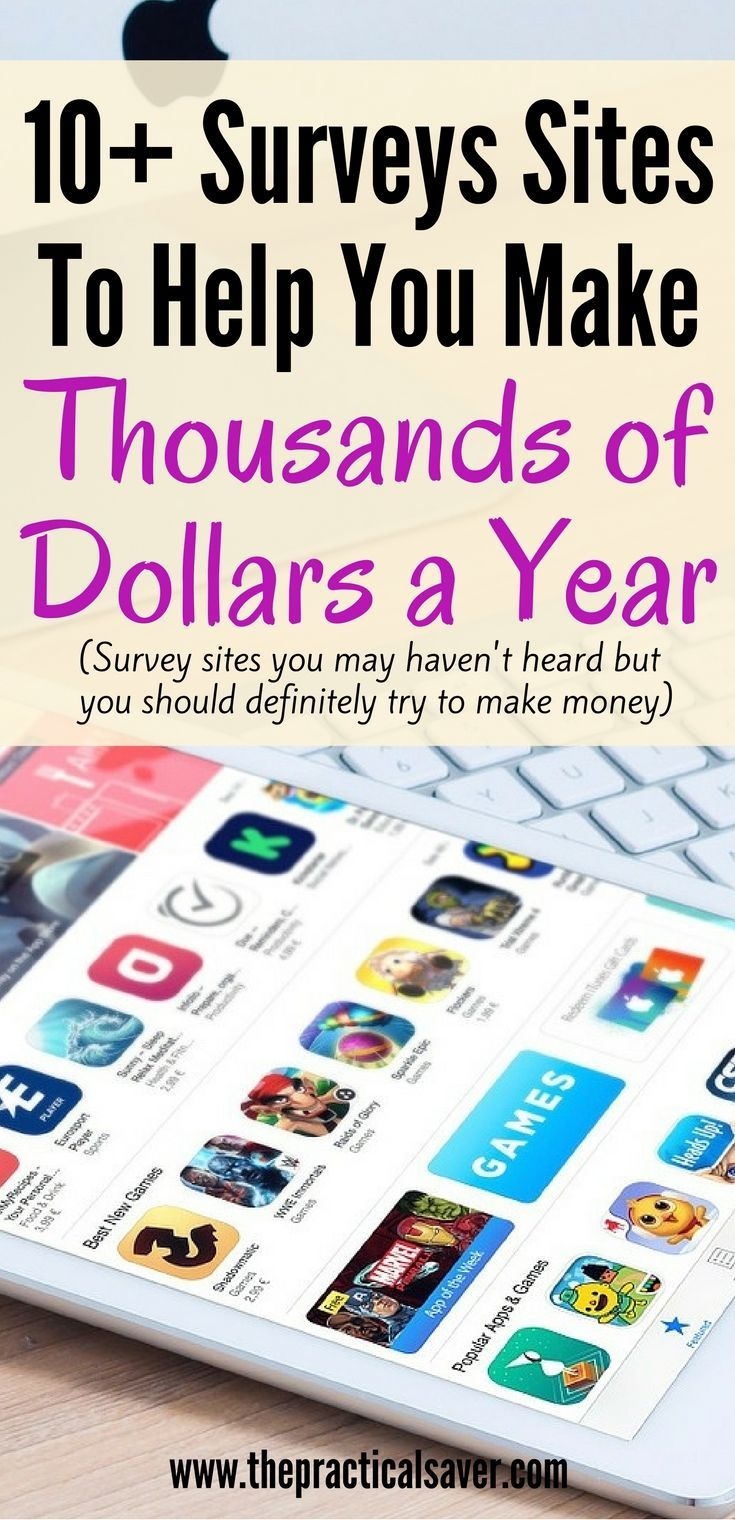 10+ Best Surveys To Help You Make Thousands of Dollars A Year. Make money online through surveys.  money making ideas l side hustle l easy money l making money ideas l easy surveys l part time job l work from home l survey sites l survey list