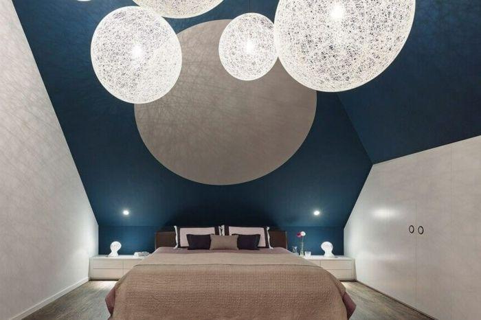 1001 Astuces Quel Mur Peindre En Fonce Pour Agrandir Une Piece Chambre Moderne Deco Chambre Et Deco Chambre Moderne