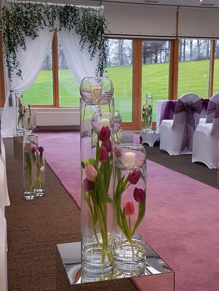 Wedding aisle decoration by eze events stirling court for Hotel wedding decor