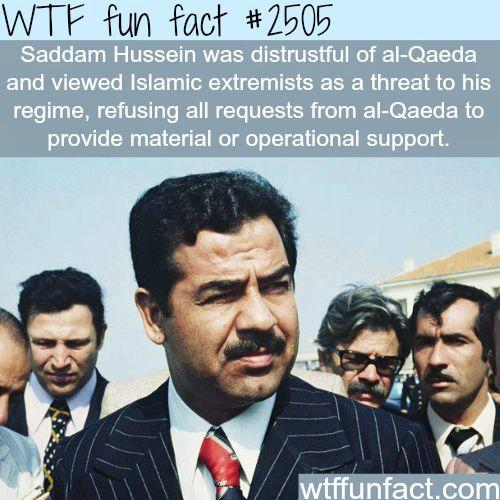 Saddam Hussein and Al-Qaeda-WTF funfacts