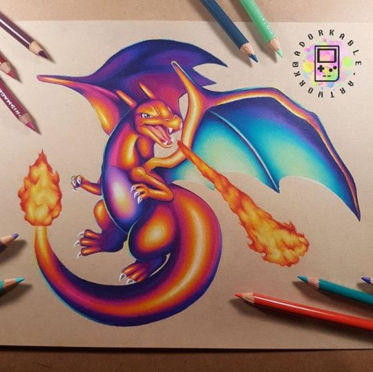 Charizard Art - Signed Print - Pokemon Art, Pokemon, Geek Art, Geek Decor, Pokemon Drawings, Pokemon Gift, Pokemon Print, Pokemon Decor