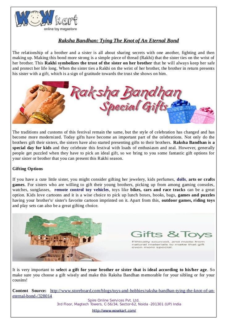 Wowkart offers a special gifts on this Rakshabandhan for your brother and sister and make them happy and they are having fun with them.