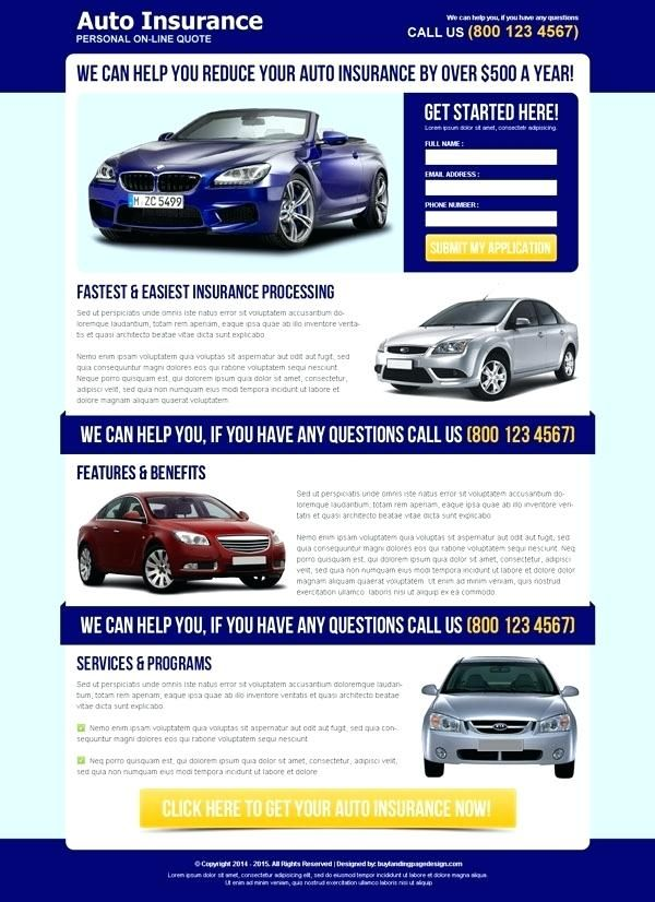Automotive Landing Page Template At A Price Of Templates