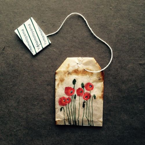 363 days of tea. Day 133. #recycled #teabag #art