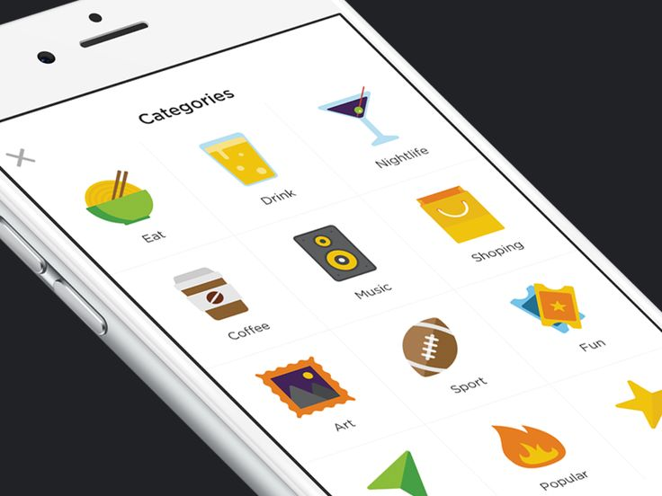 Flat Category Icons