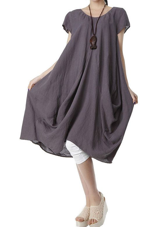 Simple time/ Mini Linen Wear Long Dress by MaLieb on Etsy, $83.00 Looks so comfortable! I love it