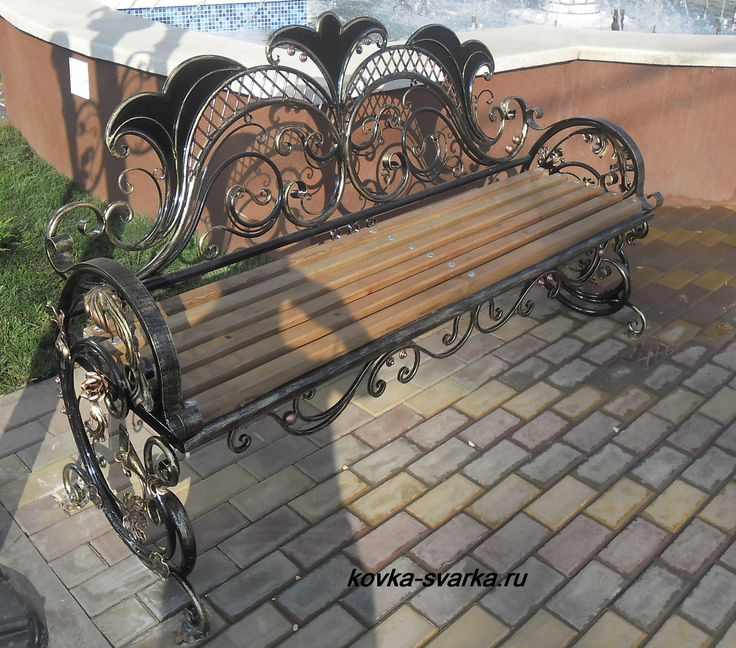 wrought iron bench lowes with wooden slats garden art