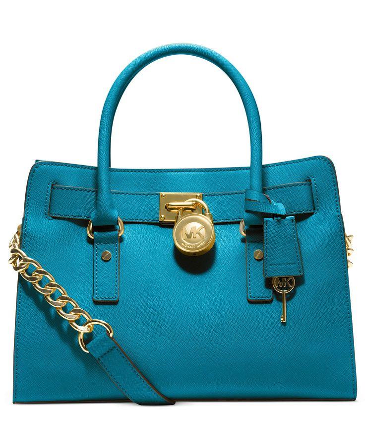 MICHAEL Michael Kors Handbag, Hamilton Saffiano Leather E/W Satchel - Handbags & Accessories - Macy's