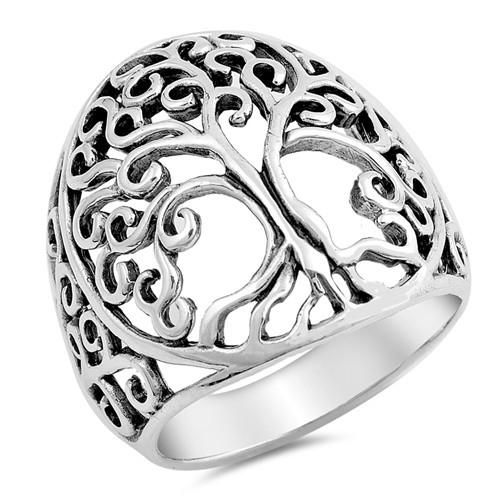 Sterling Silver Tree of Life Ring, Christian Gift for Women