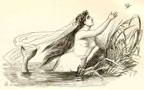 Х.К. Андерсен. Русалочка. Рис 1.  Кликните на этот рисунок чтобы открыть полноразмерную иллюстрацию.Вильхелм Педерсен (Vilhelm Pedersen 1820-1859) был первым иллюстратором сказок и историй Ханса Кристиана Андерсена. Его иллюстрации отличаются плавностью, мягкость и округлостью форм, лаконичным исполнением. Интересно заметить, что часто лица детей, нарисованные Педерсеном, имеют совершенно недетское выражение, и в тоже время взрослые — выглядят просто большими детьми.