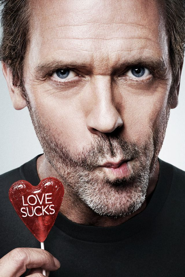 HUGH LAURIE is love because love sucks and he is sucking a sucker!