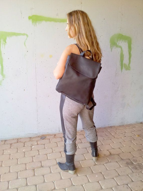 Black backpack bag, women Backpack, Laptop bag, black vegan bag, backpacks for girls and women, cool backpacks, school backpacks