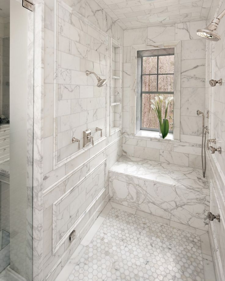 Carrara Tile Bathroom