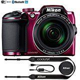 #10: Nikon COOLPIX B500 16MP 40x Optical Zoom Digital Camera w/ Wi-Fi (Plum) - (Certified Refurbished)